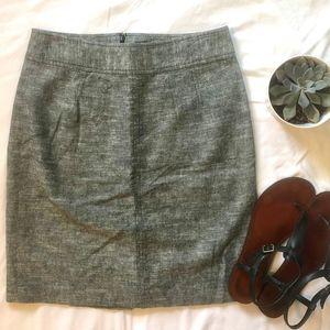 Banana Republic Linen Blend Gray Pencil Skirt